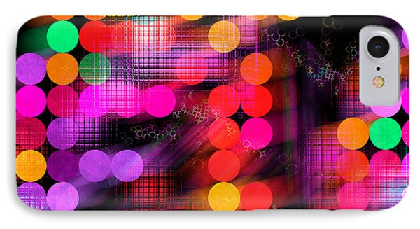 IPhone Case featuring the digital art City Lights by Fran Riley