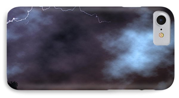 IPhone Case featuring the photograph City Lights Night Strike by James BO Insogna
