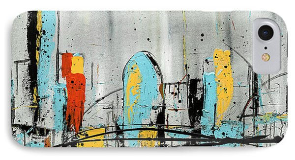 IPhone Case featuring the painting City Limits by Carmen Guedez