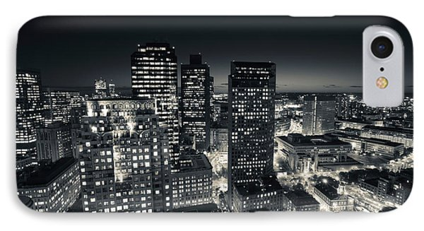 City Lit Up At Dusk, Custom House IPhone Case by Panoramic Images