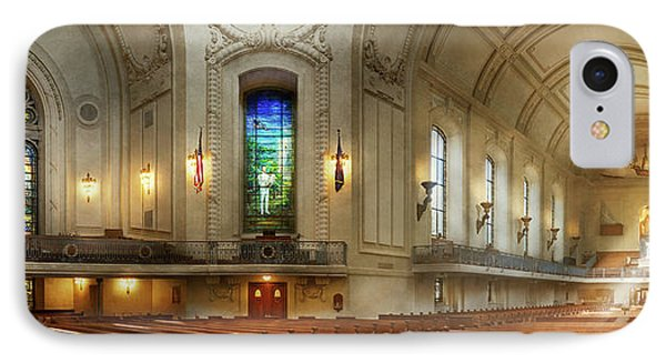 IPhone Case featuring the photograph City - Naval Academy - God Is My Leader by Mike Savad