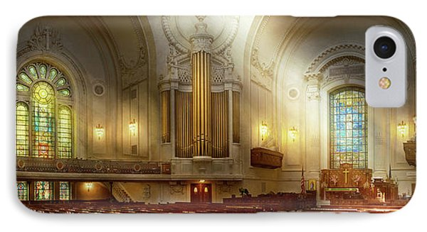 IPhone Case featuring the photograph City - Naval Academy - The Chapel by Mike Savad