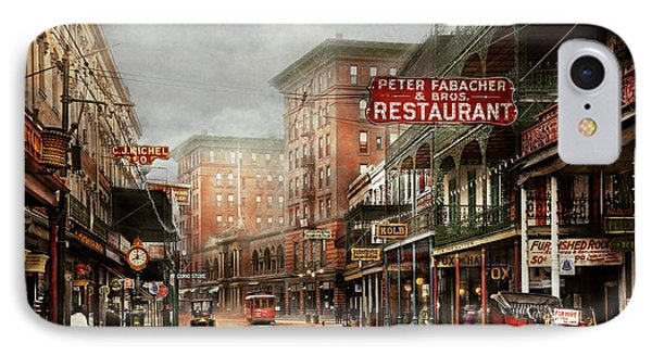 City - New Orleans - A Look At St Charles Ave 1910 IPhone Case by Mike Savad