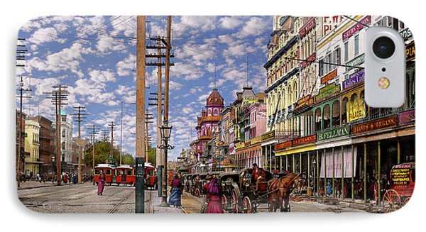 City - New Orleans - New Orleans The Victorian Era 1887 IPhone Case by Mike Savad