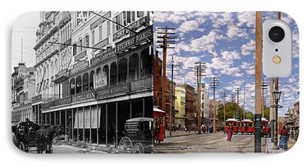 City - New Orleans - New Orleans The Victorian Era 1887 - Side By Side IPhone Case by Mike Savad