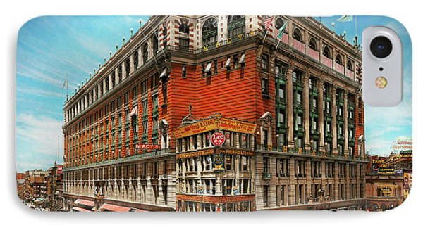 IPhone Case featuring the photograph City - Ny New York - The Nation's Largest Dept Store 1908 by Mike Savad