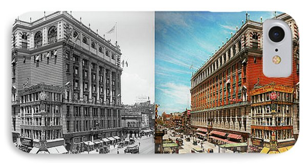 IPhone Case featuring the photograph City - Ny New York - The Nation's Largest Dept Store 1908 - Side by Mike Savad