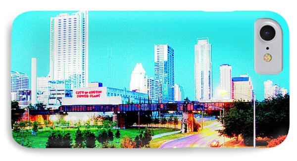 City Of Austin From The Walk Bridge 2 IPhone Case