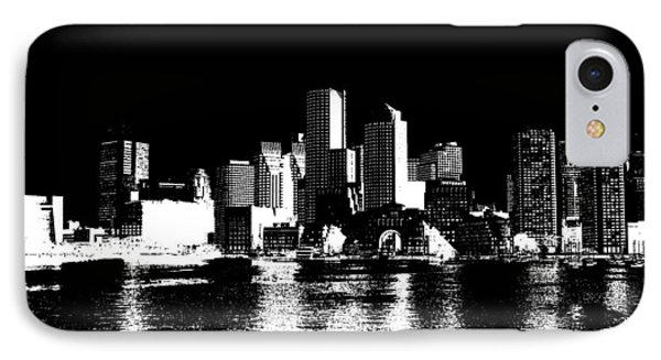 City Of Boston Skyline   IPhone 7 Case by Enki Art