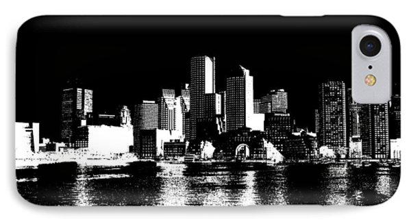 City Of Boston Skyline   IPhone Case