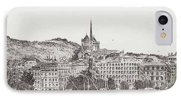 City Of Geneva IPhone Case by Vincent Alexander Booth