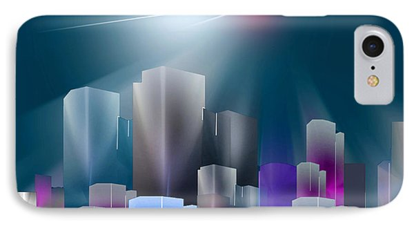City Of Light IPhone Case by John Krakora