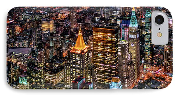 City Of Lights - Nyc IPhone Case by Rafael Quirindongo