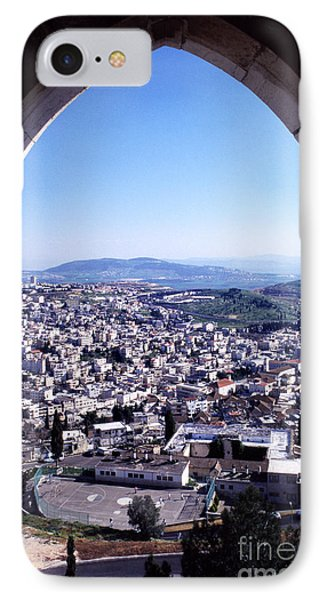 City Of Nazareth From The Saint Gabriel Bell Tower Phone Case by Thomas R Fletcher