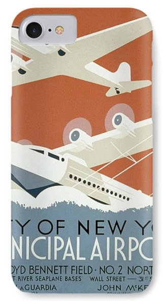 City Of New York Municipal Airports Phone Case by Christopher DeNoon