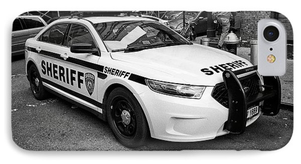 city of new york sheriff department ford police interceptor cruiser vehicle New York City USA IPhone Case by Joe Fox