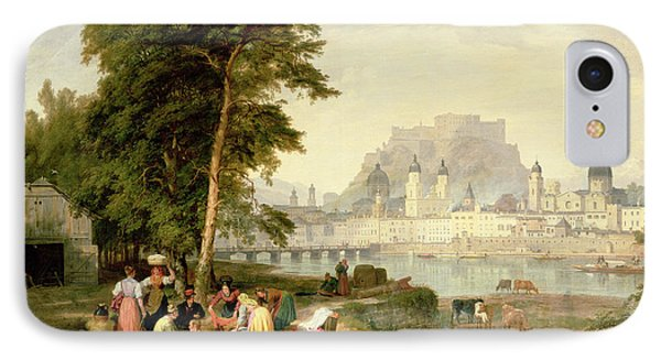 City Of Salzburg IPhone Case by Philip Hutchins Rogers
