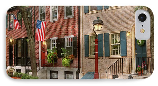 IPhone Case featuring the photograph City - Pa Philadelphia - American Townhouse by Mike Savad