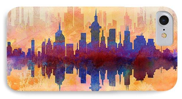 City Pulse IPhone Case by Bedros Awak