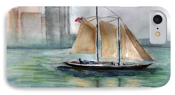 City Sail IPhone Case by Clara Sue Beym