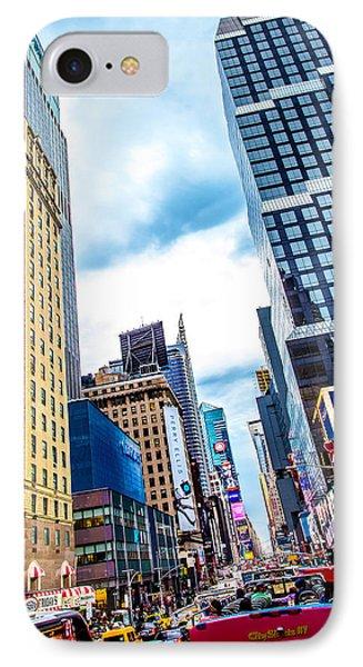 City Sights Nyc IPhone 7 Case by Az Jackson