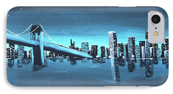City Skyline IPhone 7 Case by Cyrionna The Cyerial Artist