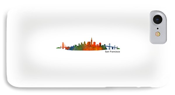San Francisco City Skyline Hq V1 IPhone Case by HQ Photo