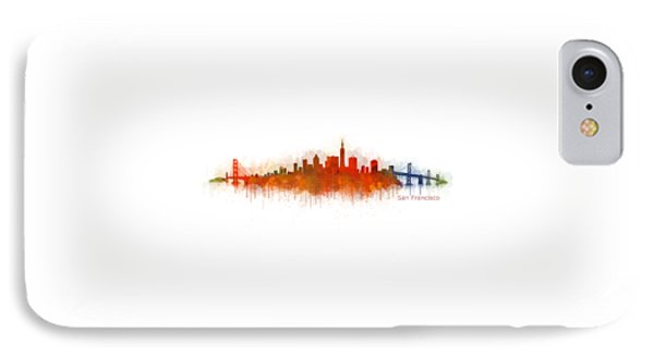 San Francisco City Skyline Hq V3 IPhone Case by HQ Photo