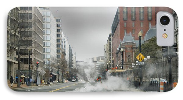 IPhone Case featuring the photograph City Street On A Rainy Day by Francesa Miller