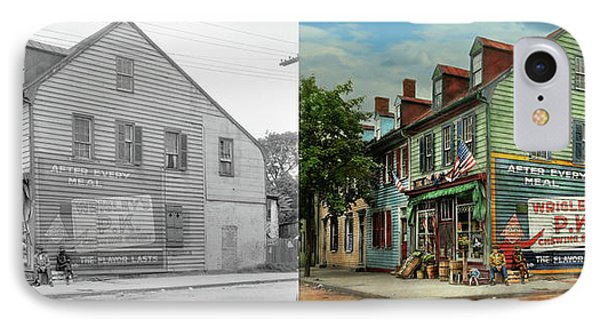 City- Va - C And G Grocery Store 1927 - Side By Side IPhone Case by Mike Savad
