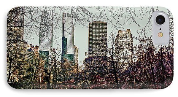 City View From Park IPhone Case by Sandy Moulder