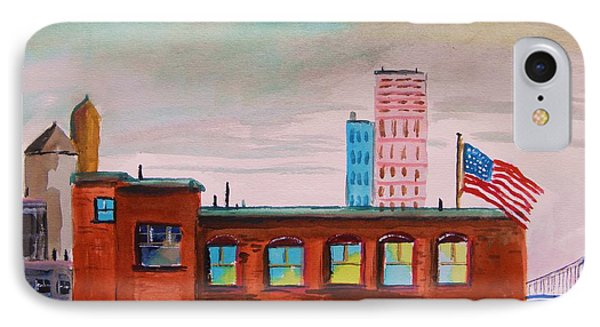 IPhone Case featuring the painting City Warehouse by John Williams