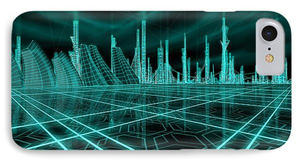 Cityscape 2010 Alpha IPhone Case by James Christopher Hill