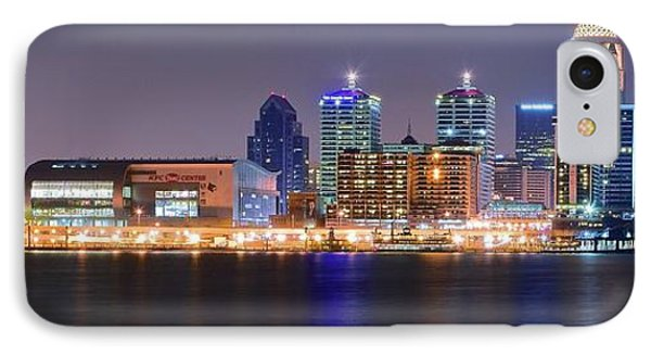 Cityscape Of Louisville IPhone Case by Frozen in Time Fine Art Photography