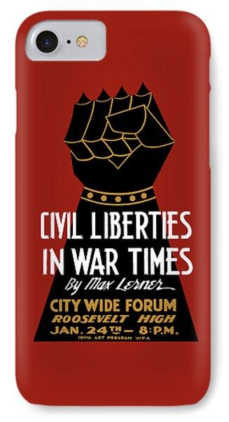 Civil Liberties In War Times - Wpa IPhone Case