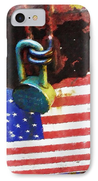 Civil Rights And Wrongs Home Land Security Flag And Lock 2 IPhone Case