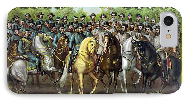 Civil War Generals And Statesman Phone Case by War Is Hell Store