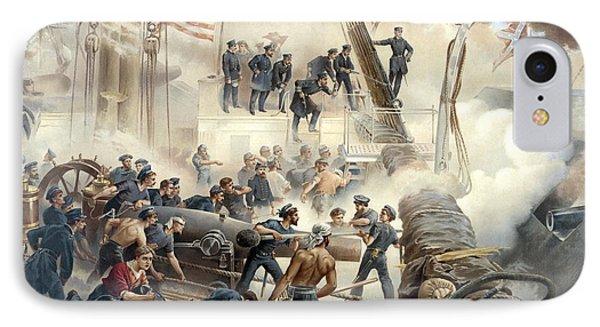 Civil War Naval Battle Phone Case by War Is Hell Store