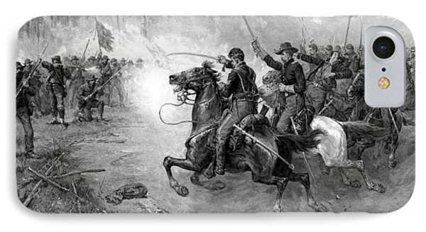 Civil War Union Cavalry Charge IPhone Case
