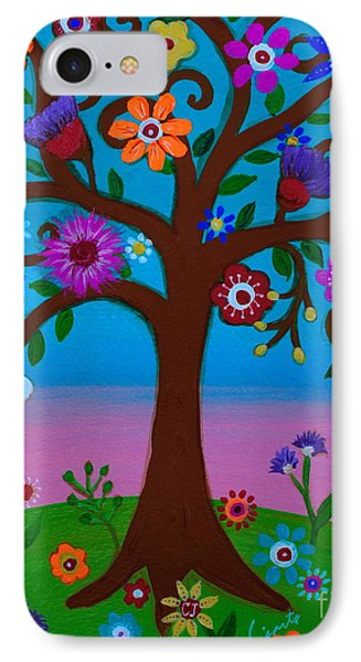 IPhone Case featuring the painting Cj's Tree by Pristine Cartera Turkus
