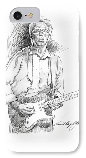 Clapton Riff IPhone 7 Case by David Lloyd Glover