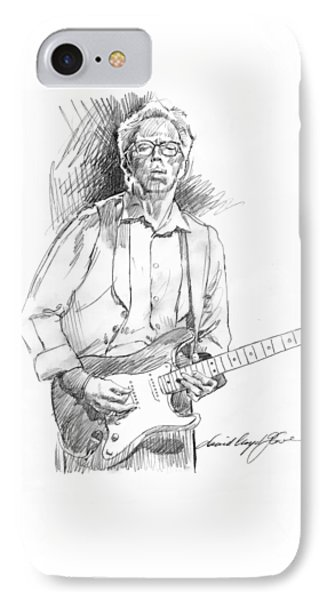 Clapton Riff IPhone 7 Case by David Lloyd Glover