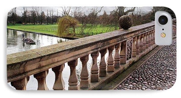 IPhone Case featuring the photograph Clare College Bridge Cambridge by Gill Billington