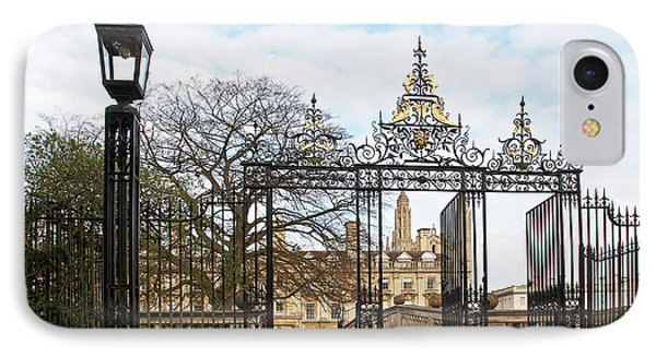 IPhone Case featuring the photograph Clare College Gate Cambridge by Gill Billington