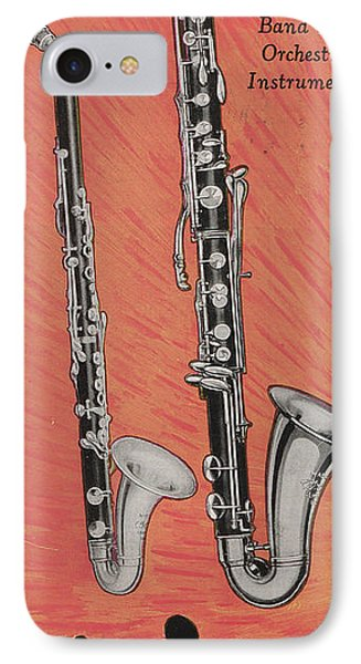 Clarinet And Giant Boehm Bass IPhone 7 Case by American School
