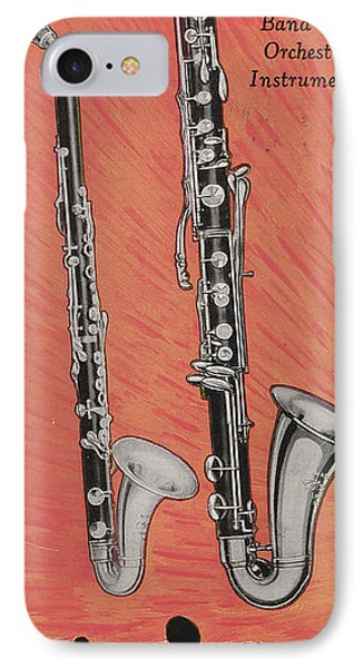 Clarinet And Giant Boehm Bass IPhone 7 Case