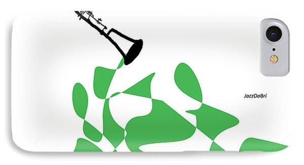 Clarinet In Green IPhone Case