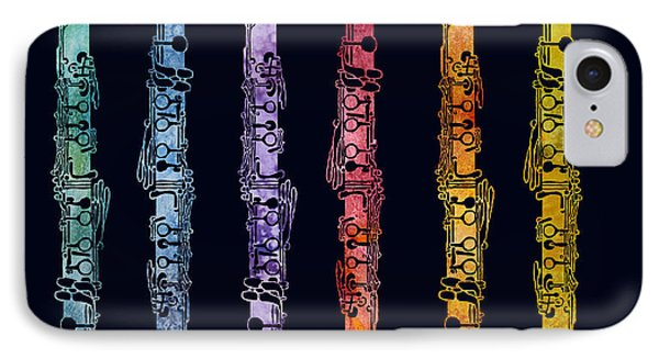 Clarinet Rainbow IPhone Case