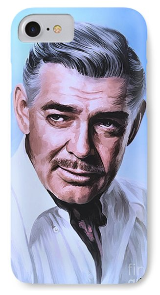 IPhone Case featuring the painting  Clark Gable 2 by Andrzej Szczerski