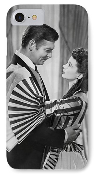 Clark Gable And Vivien Leigh IPhone Case by Underwood Archives